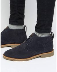 New Look - Desert Boot In Navy - Lyst