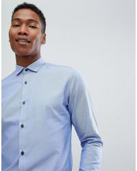 7be425a23b5c Jack   Jones - Premium Smart Shirt In Slim Fit With Contrast Buttons - Lyst