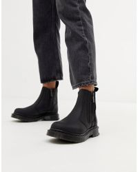 Dr. Martens - 2976 Alyson Black Leather Snowgrip Flat Chelsea Boots - Lyst