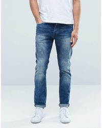 Only & Sons - Classic Wash Slim Fit Jeans With Stretch - Lyst