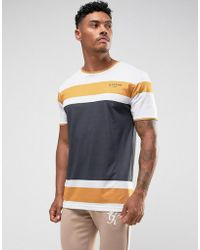 Illusive London - T-shirt In White With Stripes - Lyst