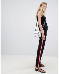 Pieces - Julia Side Stripe Trousers - Lyst