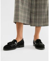 Dune - Flat Leather Loafers - Lyst