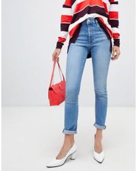 Warehouse - High Waisted Sculpting Skinny Jeans In Light Authentic Wash - Lyst