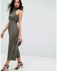 ASOS - Jumpsuit With High Neck And Buckle - Lyst