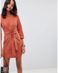 ASOS - Tie Wrap Around Mini Dress - Lyst
