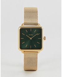 Cluse - La Garconne Cl60014 Contrast Dial Mesh Strap Watch In Gold - Lyst