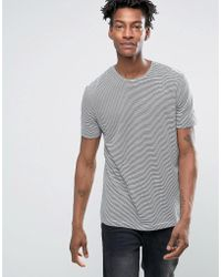 Minimum | Nestor Fine Stripe T-shirt | Lyst