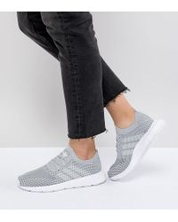 adidas Originals - Swift Run Primeknit Trainers In Grey - Lyst