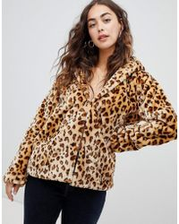 Glamorous - Hooded Jacket In Leopard Print - Lyst