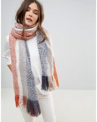 Lavand - Colour Block Knitted Scarf - Lyst
