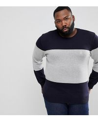 French Connection - Plus Cotton Panel Crew Neck - Lyst