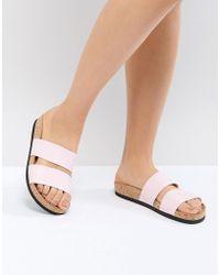 Monki - Double Strap Sandal - Lyst
