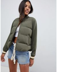 Abercrombie & Fitch - Quilted Collarless Jacket - Lyst