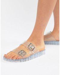 ASOS - Flax Jelly Flat Sandals - Lyst