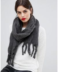 French Connection - Pepa Fluffy Oversized Scarf - Lyst
