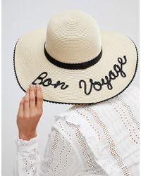 Oasis - Bon Voyage Straw Hat - Lyst
