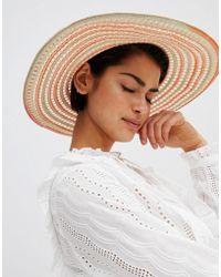 Oasis - Wide Brim Straw Hat - Lyst