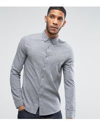 Farah - Pique Jersey Shirt Exclusive In Grey - Lyst