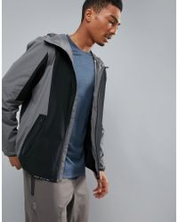 Perry Ellis - 360 Running Challenger Jacket Packable In Grey/black - Lyst