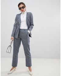 UNIQUE21 - Tailored Checked Trouser - Lyst