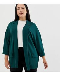 ASOS - Asos Design Curve Easy Relaxed Blazer In Textured Jersey - Lyst
