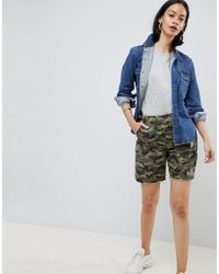 ASOS - Cargo Shorts In Camo With Raw Hem - Lyst