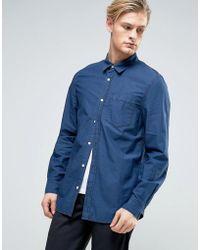 Weekday | Class Denim Shirt Yama Blue | Lyst
