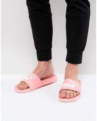 PUMA - Popcat Sliders In Pink 36026525 - Lyst
