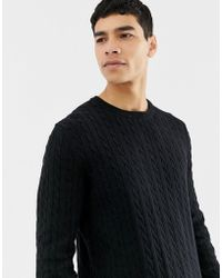 Only & Sons - Knitted Jumper With Cable Detail - Lyst