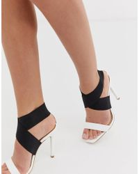 a83a4d2c5c Lipsy Margot Gold Glitter Caged Heeled Sandals in Metallic - Lyst