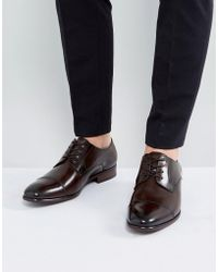 ALDO - Galerrange Derby Leather Shoes In Brown - Lyst