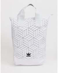 736ce3bab8 adidas Originals - Geometric 3d Roll Top Backpack - Lyst