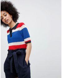 Urban Bliss - Beattie Pointelle Polo Shirt - Lyst