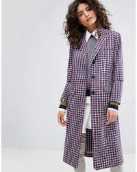 Sonia by Sonia Rykiel - Small Check Tailorerd Coat - Lyst