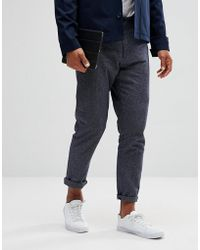 SELECTED - Tapered Fit Trousers - Lyst
