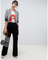 ASOS - Retro Full Length Flare Jeans In Black Cord - Lyst