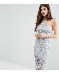 9e9e83162f03 Boohoo Exclusive Lace Trim Open Back Midi Dress in Red - Lyst