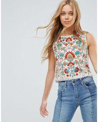 Pepe Jeans - Rustic Floral Vest Top - Lyst