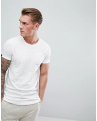 Produkt - Longline T-shirt With Curved Hem - Lyst