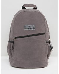 SYSTVM - Backpack In Gray Faux Suede - Lyst