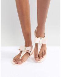 Zaxy - By Melissa Glaze Bow Flip Flop - Lyst
