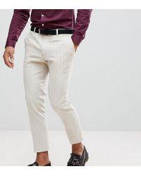 Heart & Dagger - Skinny Cropped Trouser In Linen Stripe - Lyst