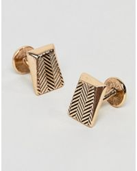 Icon Brand - Antique Gold Faceted Cufflinks - Lyst