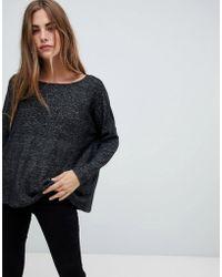 ONLY - Knitted Wide Neck Sweater - Lyst
