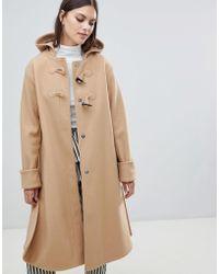 ASOS - Minimal Duffle Coat - Lyst
