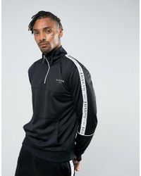 Illusive London - Overhead Track Jacket In Black With Taping - Lyst
