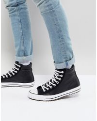 Converse - Chuck Taylor All Star Street Trainer Boots In Black 157496c001 - Lyst