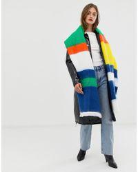 ASOS - Fular largo extragrande con rayas multicolor de - Lyst