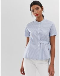 MAX&Co. - Cotton Shirt With Self Tie - Lyst